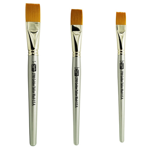 AS-33 Golden Taklon Synthetic Wash-Glaze Brush Set 3 pcs