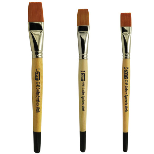 AS-1 Student Synthetics Wash- Glaze Brush Set