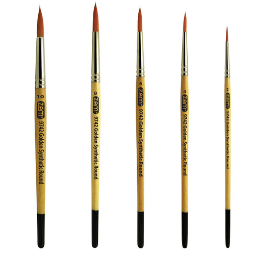 AS-3 Student Golden Synthetics Rounds Brush Set