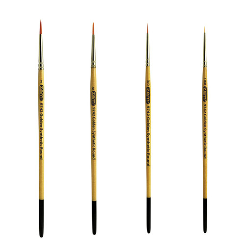 AS-4 Student Golden Synthetics Detail Brush Set