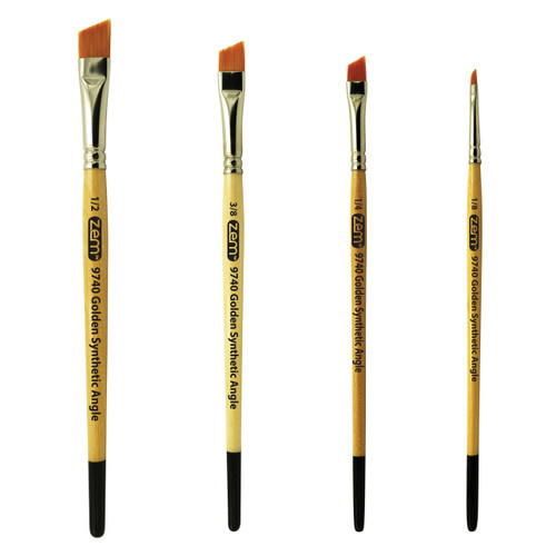 AS-5 Student Golden Synthetics Angle Brush Set
