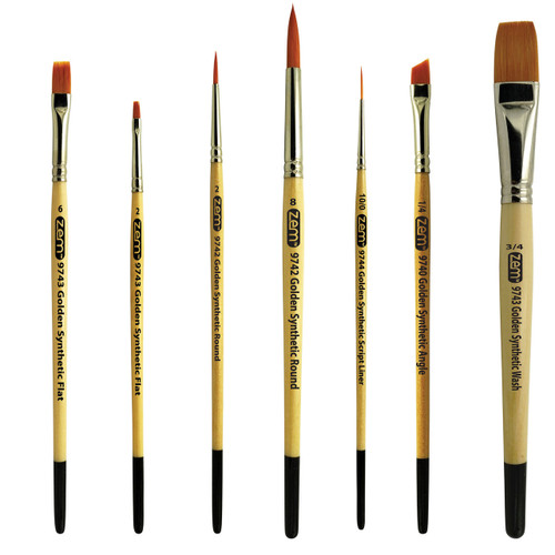 AS-7 Student Golden Synthetics Starter Brush Set