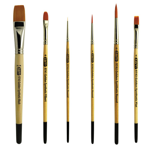 AS-8 Student Golden Synthetics Starter Brush Set