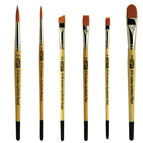 AS-9 Student Golden Synthetics Combo Brush Set