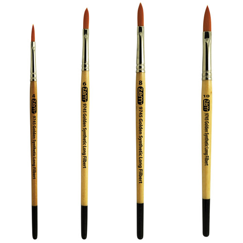 AS-10 Student Golden Synthetics Extended Filberts Brush Set