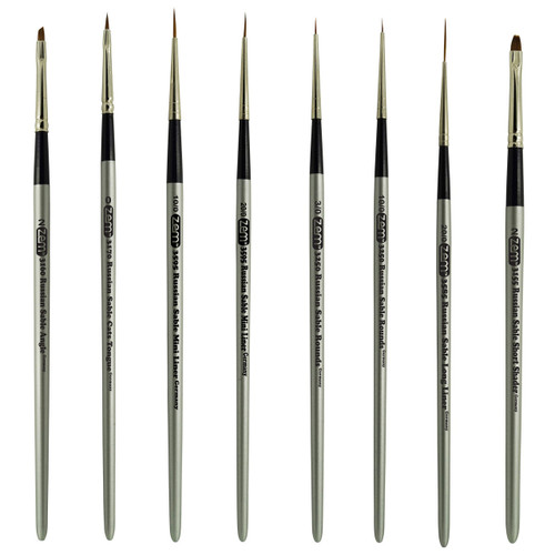 AS-61 Russian Pure Sable Miniature Brush Set 8 pcs