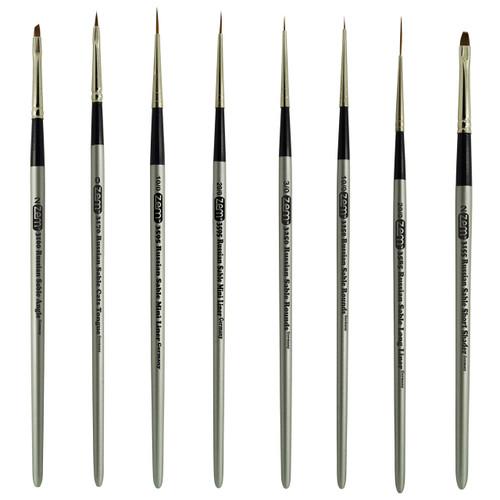 AS-61 Russian Pure Sable Miniature Brush Set 8 pcs
