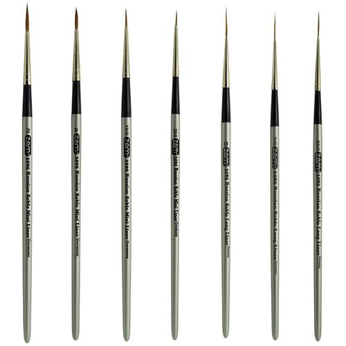 AS-64 Russian Pure Sable Long Liner and Mini Liner Brush Set 7 pcs