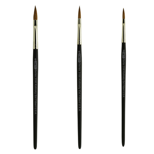 AS-80 Kolinsky Pure Sable Long Filbert Brush Set