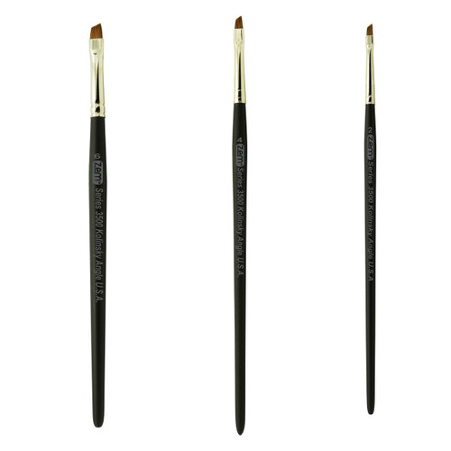 AS-82 Kolinsky Pure Sable Angle Shader Brush Set