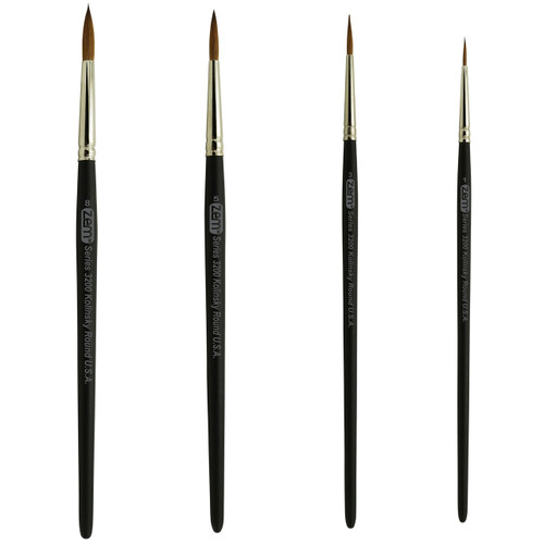 AS-83 Kolinsky Pure Sable Rounds Brush Set