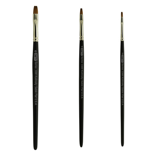 AS-86 Kolinsky Pure Sable Shader Brush Set