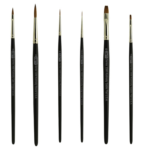 AS-87 Kolinsky Pure Sable Combo Brush Set