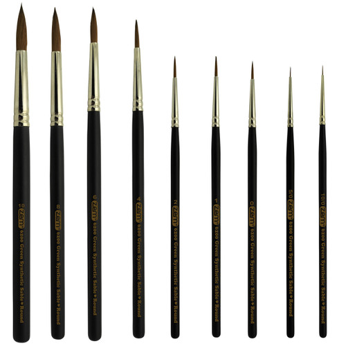 AS-140 GREEN SABLE BRUSH SET 9 PCS