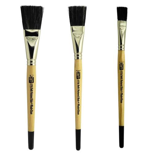 AS-190 Soft Ox Hair Wash/Glaze Brush Set 3 pcs