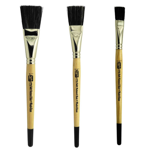 AS-190 Soft Ox Hair Wash/Glaze Brush Set 3 pcs