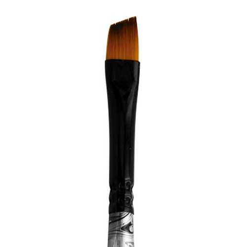 4575 Black Swirl Blended Synthetic Angle Brush