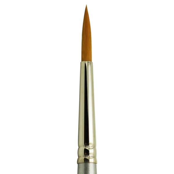 2200 Golden Taklon Synthetic Round Brush