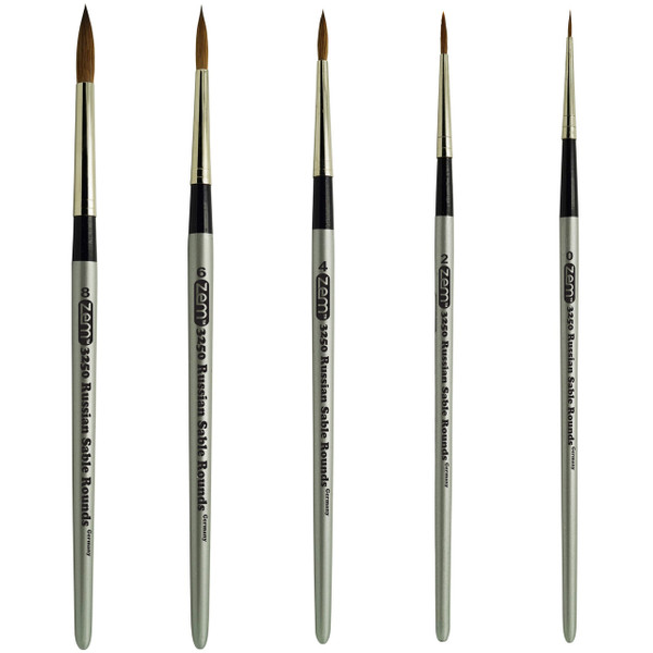 AS-60 Russian Pure Sable Rounds Brush Set 5 pcs