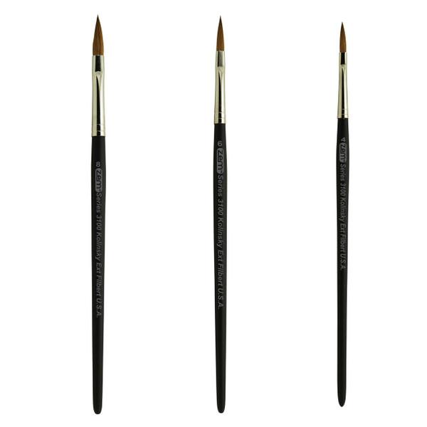 AS-80 Kolinsky Pure Sable Long Filbert Brush Set