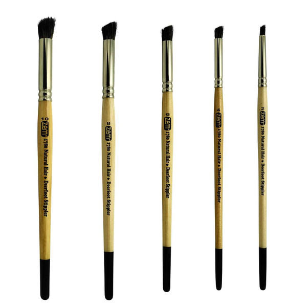 AS-191 Deerfoot Stippler Brush Set 5 pcs