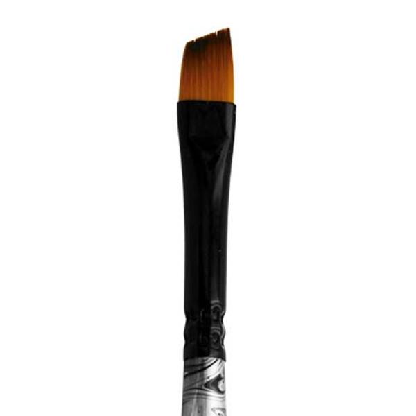 4575 Black Swirl Blended Synthetic Angle Brush