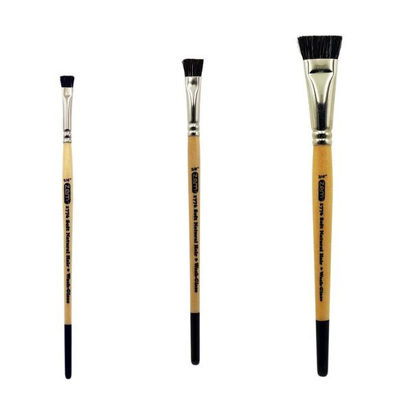 Natural Hair Flat Design Brush Set 3 pcs