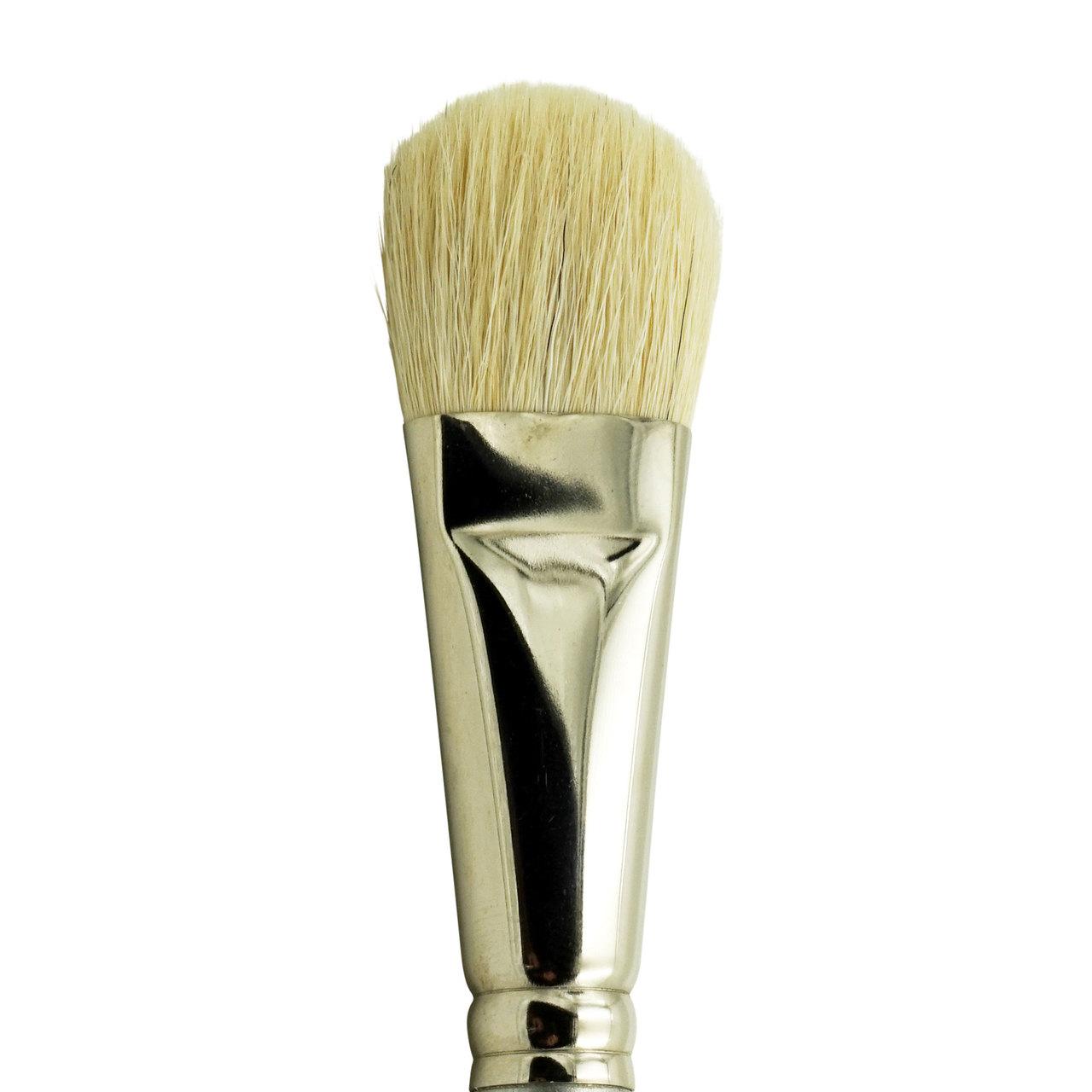 ZEM BRUSH Long Handle Stiff White Hog Bristle Fan Brushes Sold Individually 4