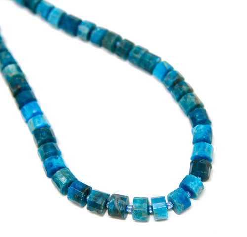 Apatite 10mm Faceted Button Strand