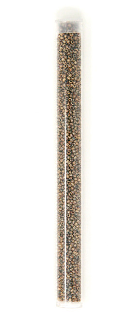 Brown Picasso - Size 11 Seed Bead Tube