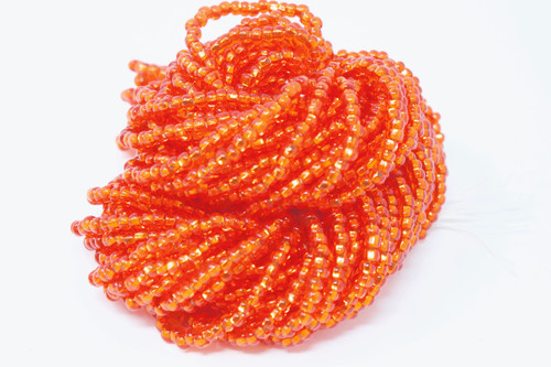 Light Scarlet Silver Lined - Size 11 Seed Bead