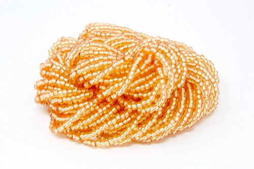 Vivid Apricot Silver Lined - Size 11 Seed Bead