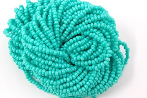 Green Freesia Opaque - Size 11 Seed Bead