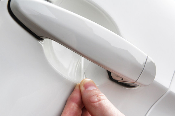 Set of 4 Custom Fit Automotive Self Healing Door Handle Door Cup Clear Paint Protection Film for 2019 2020 Audi Q8