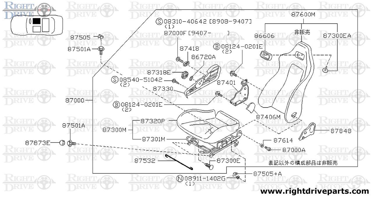Fine 87301M Frame Assembly Front Seat Cushion Bnr32 Nissan Skyline Gt R Wiring Digital Resources Tziciprontobusorg