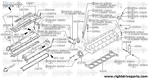 11051H - plug, rubber - BNR32 Nissan Skyline GT-R