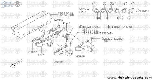 14036M - gasket, exhaust manifold A - BNR32 Nissan Skyline GT-R