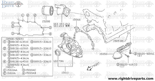 15050 - strainer assembly, oil - BNR32 Nissan Skyline GT-R
