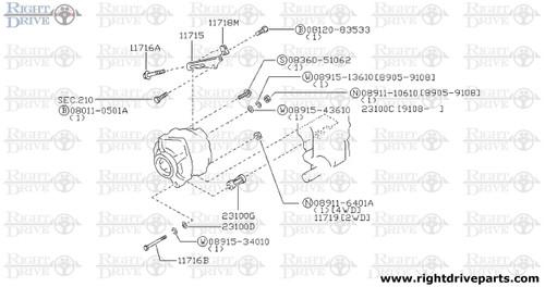 11719 - stopper, alternator nut - BNR32 Nissan Skyline GT-R