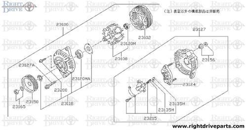 23120M - bearing, ball - BNR32 Nissan Skyline GT-R