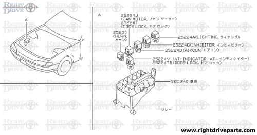 25224T - relay - BNR32 Nissan Skyline GT-R