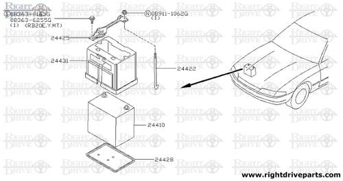 24428 - tray, battery - BNR32 Nissan Skyline GT-R