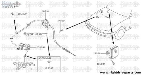 18900AA - screw - BNR32 Nissan Skyline GT-R