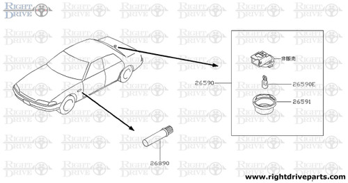 26890 - road flare - BNR32 Nissan Skyline GT-R