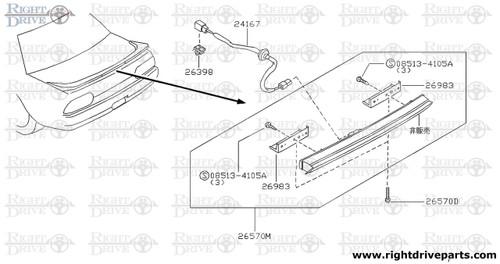 26570D - screw - BNR32 Nissan Skyline GT-R