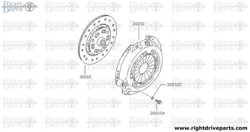 30210C - washer, clutch cover bolt - BNR32 Nissan Skyline GT-R