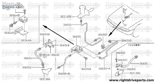 30364B - screw, bleeder connector - BNR32 Nissan Skyline GT-R