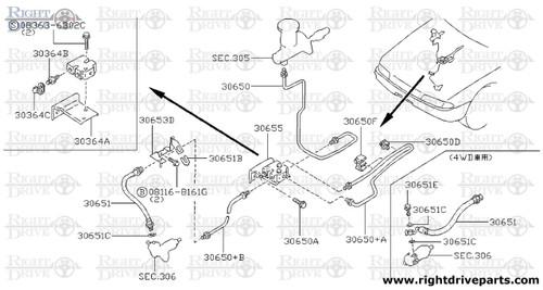 30650+A - tube assembly, clutch - BNR32 Nissan Skyline GT-R
