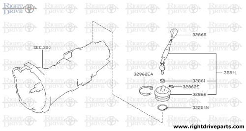 32204N - ring, snap control lever - BNR32 Nissan Skyline GT-R