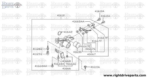 41690 - bracket, reservoir tank - BNR32 Nissan Skyline GT-R
